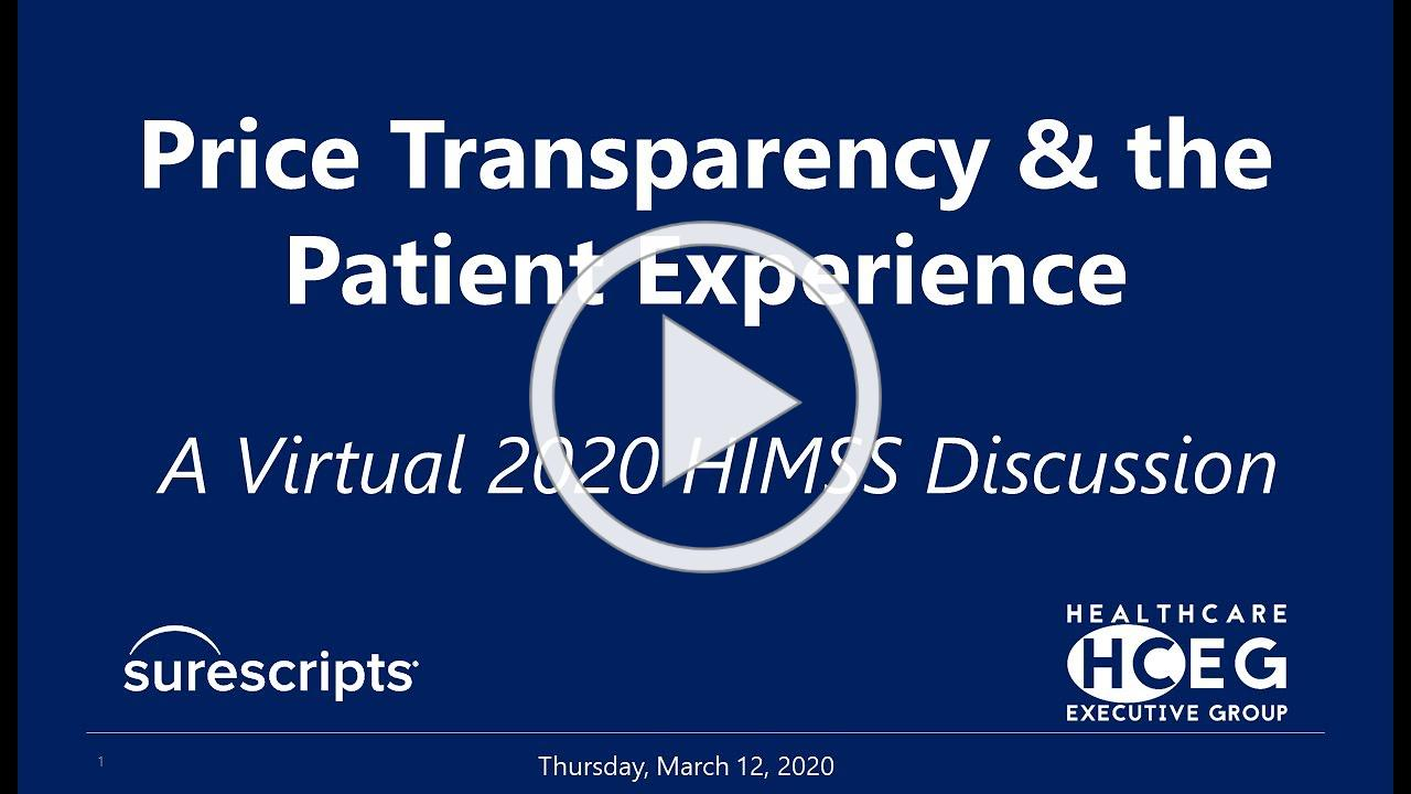 HCEG Digital Series: Price Transparency & The Patient Experience