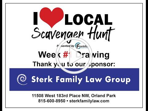 Sterk Family Law Group sponsors the Week 1 I Love Local Scavenger Hunt