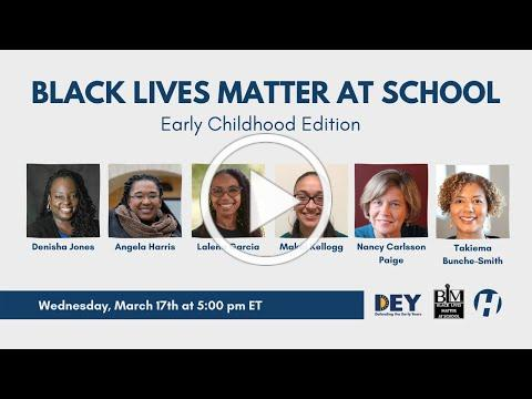 Black Lives Matter at School: Early Childhood Edition