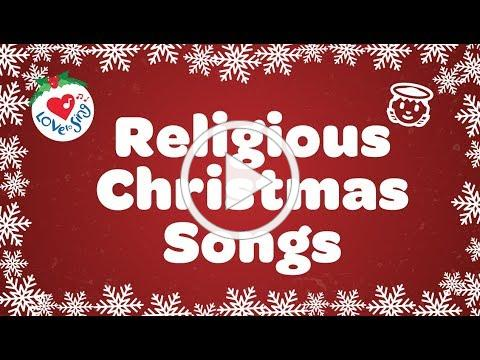 Religious Christmas Songs and Hymns Playlist with Lyrics 90 Minutes ✝