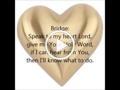 """Speak To My Heart"" with LYRICS by New York Restoration Choir and Donnie McClurkin"