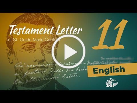 Episode 11: Testament Letter of St Guido Maria Conforti