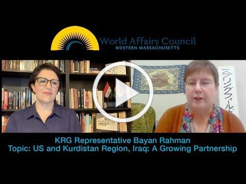 KRG US Rep Bayan Sami Abdul Rahman on US and Kurdistan Region, Iraq: A Growing Partnership