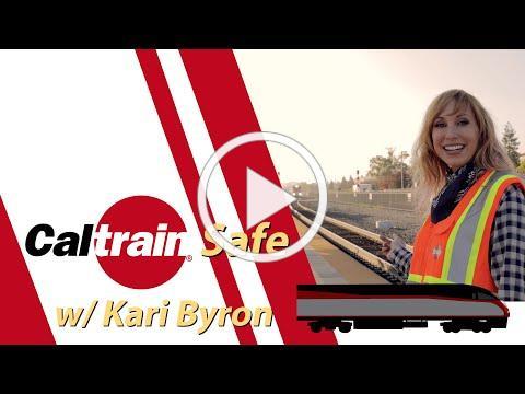 Kari Byron at Caltrain track