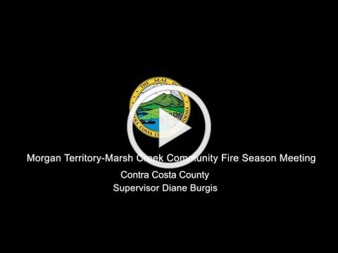 Morgan Territory-Marsh Creek Community Fire Season Meeting May 1, 2021