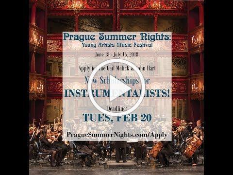 Prague Summer Nights: Melick & Hart Instrumental Scholarships