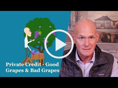 Private Credit - Good Grapes and Bad Grapes