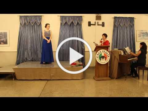 Vocal Scholarship - Turano Family Scholarship Winner - November 10, 2019 - Video 1 of 2