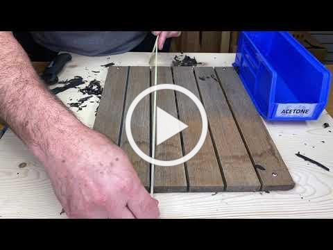 How To Properly Prepare & Re-Caulk a Teak Deck Seam Part 1 of 2