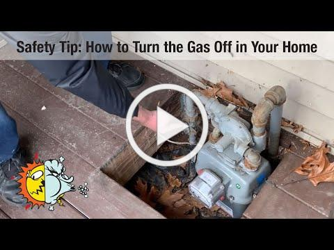 Safety Tip: How to Turn the Gas Off in Your Home