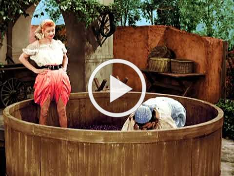 I LOVE LUCY - GRAPE STOMPING FIGHT - LUCY'S ITALIAN MOVIE