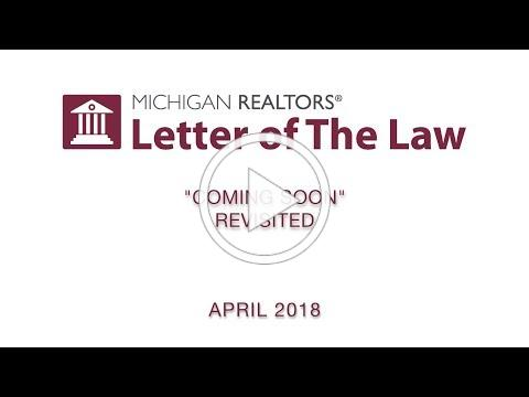 """Letter of The Law: """"Coming Soon"""" Revisited"""