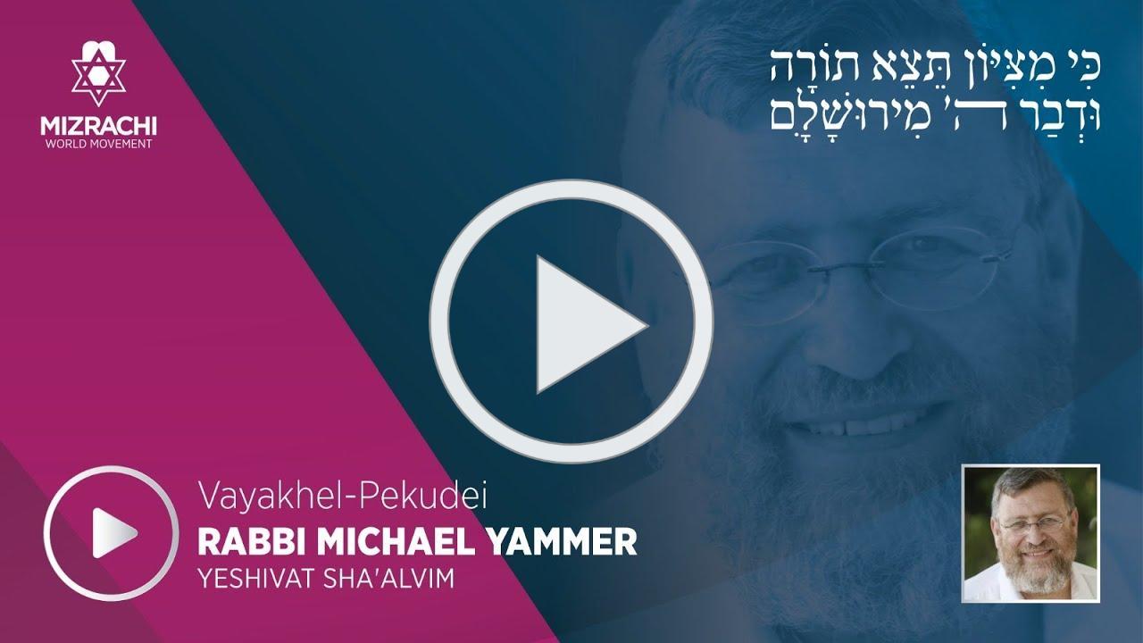 Rabbi Michael Yammer   Vayakhel-Pekudei 5780