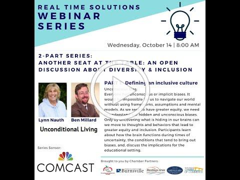 Real Time Solutions Webinar: An Open Discussion About Diversity & Inclusion - Part 1