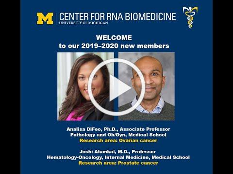 Dr. Analisa DiFeo, Ph.D., and Dr. Joshi Alumkal, M.D., join the U-M Center for RNA Biomedicine
