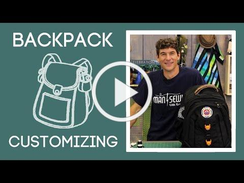 Back to School Backpack Customizing: Easy Craft Project with Rob Appell of Man Sewing