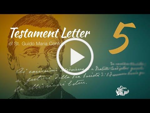 Episode 5: Testament Letter of St Guido Maria Conforti
