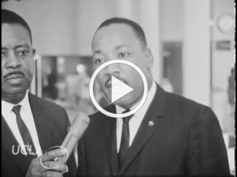 "KTLA News: ""Martin Luther King, Jr. campaigns for civil rights in Los Angeles"" (1964)"