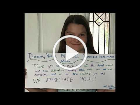 NEHS Health Care Thank You Video