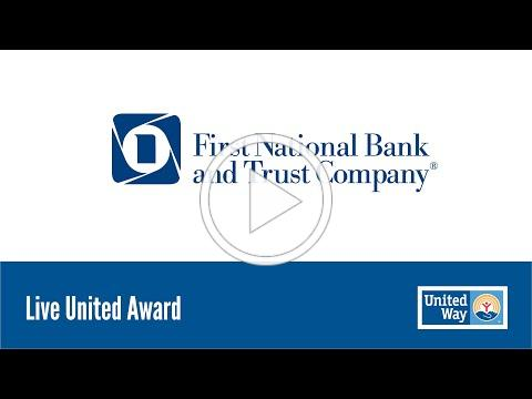 First National Bank and Trust Company - Live United Award