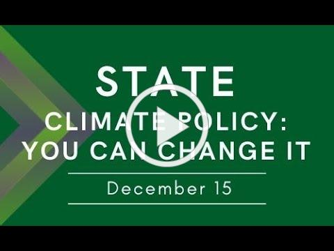 Winter Workshop Series - STATE Climate Policy