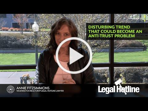 Legal Hotline: Disturbing Trend That Could Become An Anti-Trust Problem
