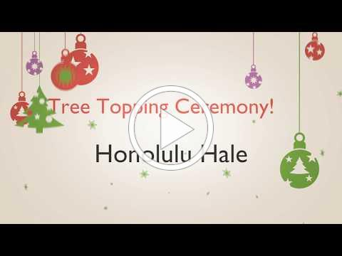 Tree Topping Ceremony at Honolulu Hale
