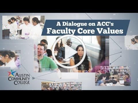 A Dialogue on ACC's Faculty Core Values