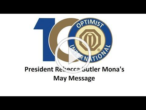 President Rebecca Butler Mona's May Message