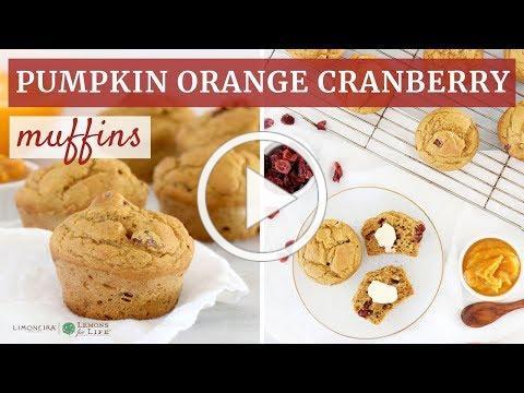 Pumpkin Orange Cranberry Muffins | Gluten-Free Baking | Limoneira