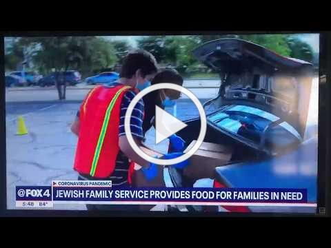 FOX 4 News Feature: Drive-thru Food Distribution due to COVID-19