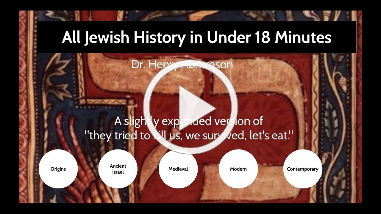 All Jewish History in Under 18 Minutes