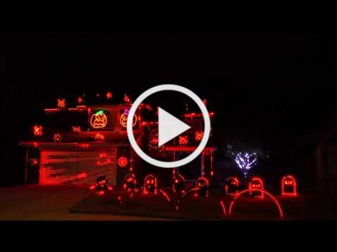 Ghostbusters - Ray Parker Jr. 2019 Halloween Light Show