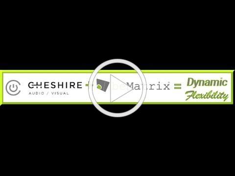 Cheshire AV Presents beMatrix 2.5mm LEDskin reception desk