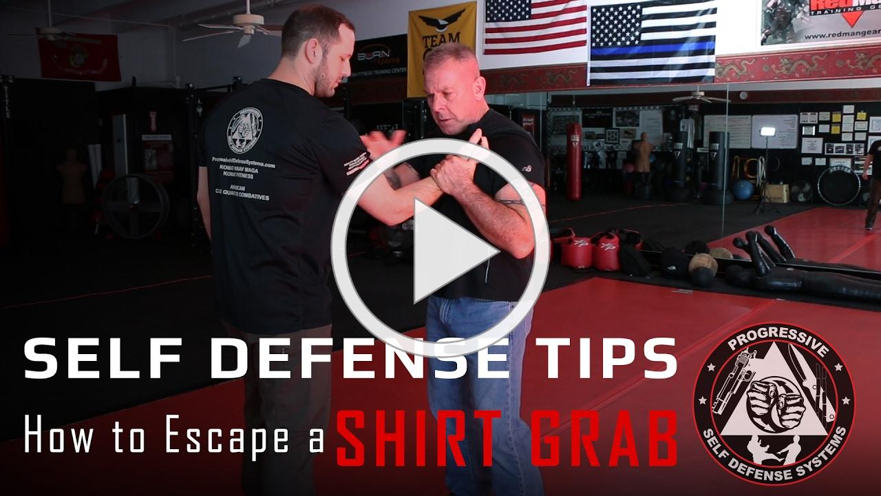 Self Defense Tips - How to Escape a Shirt Grab