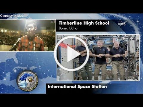 Watch Boise students chat with space station astronauts