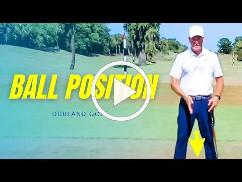 GOLF TIP | How To Get PROPER BALL POSITION In Golf