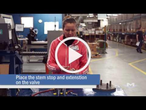 Milwaukee Valve Company Installing a Locking Stem Extension Kit on a Bronze Ball Valve