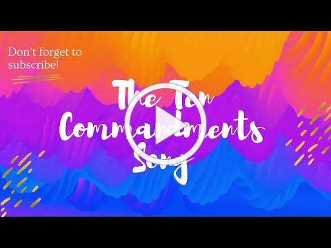The Ten Commandments song (with lyrics)