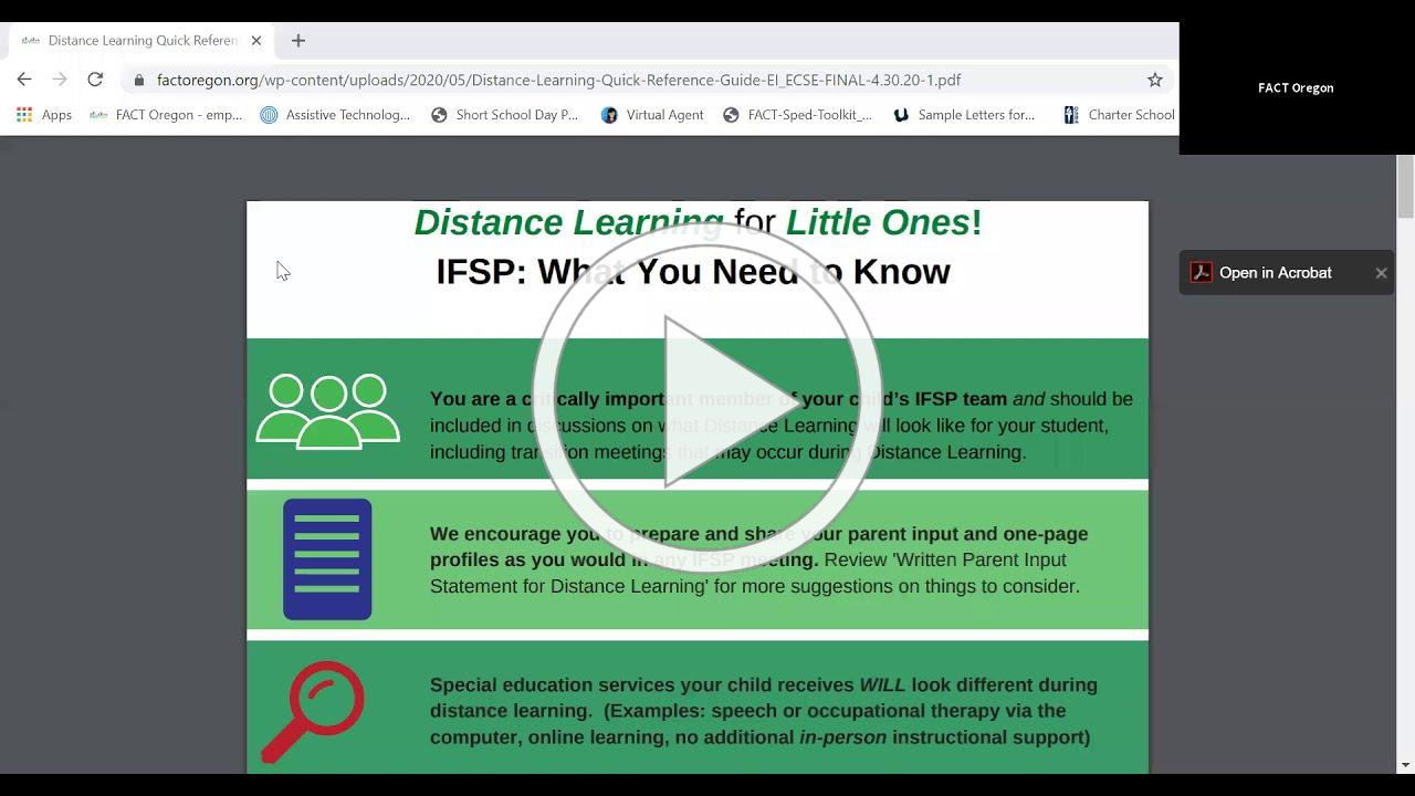 Distance Learning for Little Ones: Toolkit