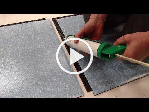How to apply seam sealer to FreeStyle Interlocking tiles