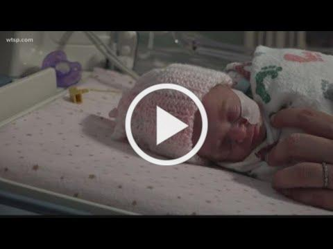 Crocheted caps give preemies a warm welcome to world