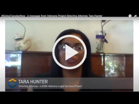 #GivingTuesdayNow - A message from Veterans Project Directing Attorney, Tara Hunter