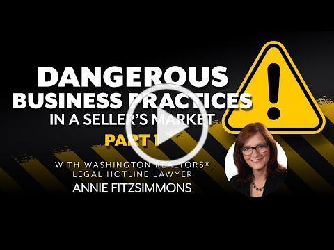 Dangerous Business Practices in a Sellers Market, Part 1