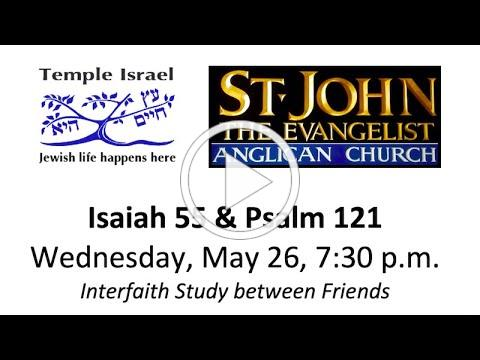 LOOKING TO TEXTS FOR COURAGE IN TIMES OF STRUGGLE: PART 2 - Temple Israel & St John the Evangelist