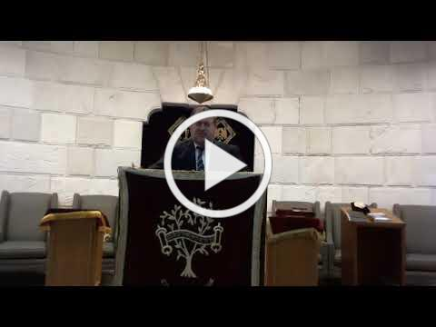 "Rabbi Fisch Drasha/Sermon ""Reflections on the Final Shabbos of a Chaotic Year"""