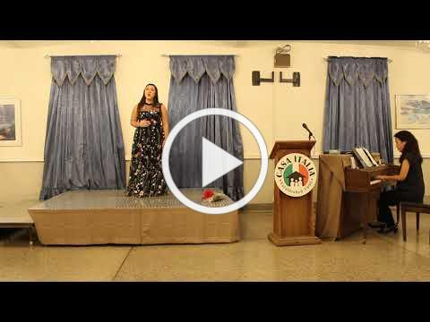 Vocal Scholarship - LiPuma Scholarship Winner - November 10, 2019 - Video 1 of 2
