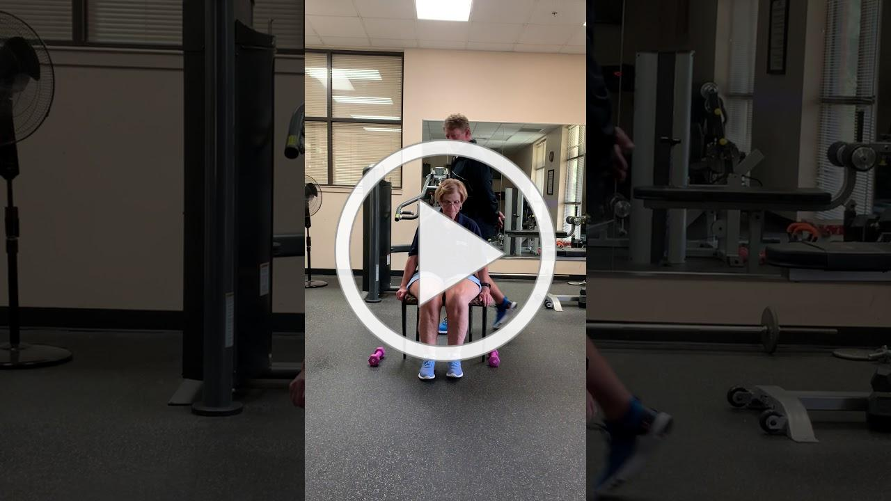 Chair exercises with Carl