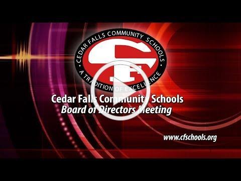 Cedar Falls Board of Education Meeting, October 28, 2019