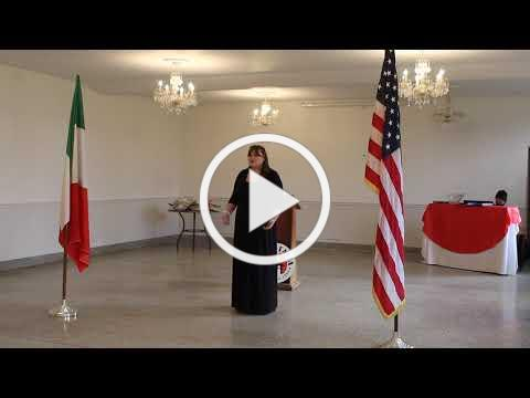 2020 Casa Italia Vocal Scholarship - IAET Scholarship Winner - November 8, 2020 - Video 1